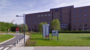 Vue extérieure du CAH (Centre administratif hospitalier de l'Hôpital Erasme)