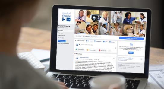 L'Hôpital Erasme dispose de sa propre page Facebook! Rejoignez-nous!