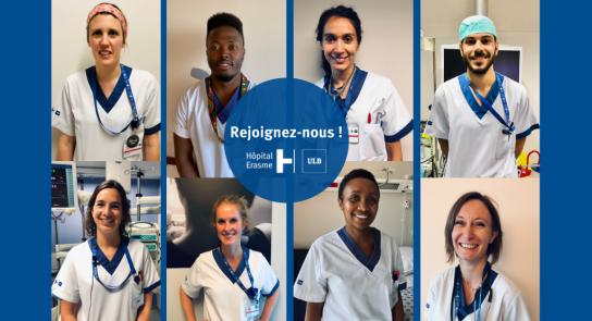 Le département infirmier de l'Hôpital Erasme recrute : rejoignez-nous !