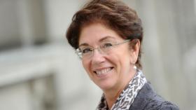 Nadine Lemaître, présidente du Conseil d'Administration de l'Hôpital Erasme